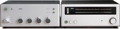 (Gehäuse der) Braun CSV 250 (links) und Braun CE 250 (rechts)